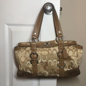 Final price drop Coach tan handbag